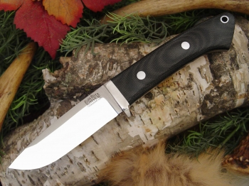 Нож Bark River Drop Point Hunter Black Canvas Micarta .