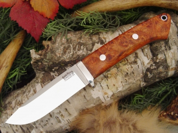 Нож Bark River Drop Point Hunter Amboynia Burl .