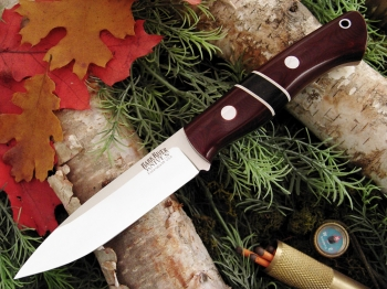 Нож Bark River Aurora Maroon Linen Micarta - Black Linen Spacers