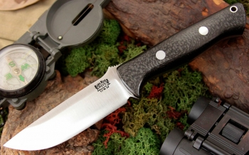 Нож Bark River Bravo1 3VR Black Carbon Fiber