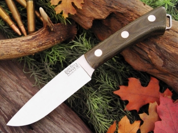 Нож Bark River Fox River Green Canvas Micarta