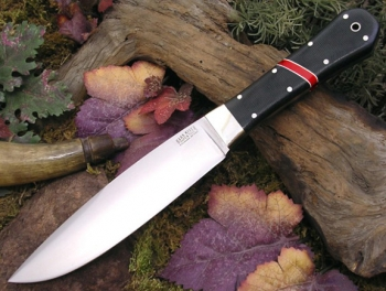 Нож Bark River Rogue Black Canvas Micarta bloody Basin Spacer