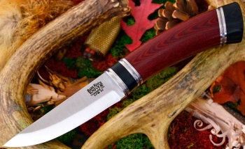 Нож Bark River Scandi Maroon Linen Micarta Black Paper Spacer