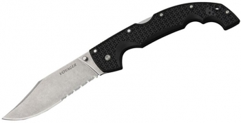 Нож складной COLD STEEL 29TXCH Extra Large XL Voyager Clip Point Half Serrated .
