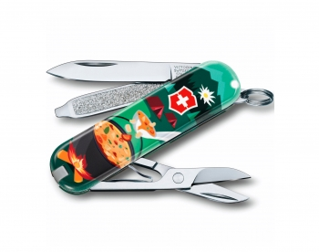 Нож-брелок складной Victorinox 0.6223.L1907 Classic SD Swiss Mountain Dinner Limited Edition 2019